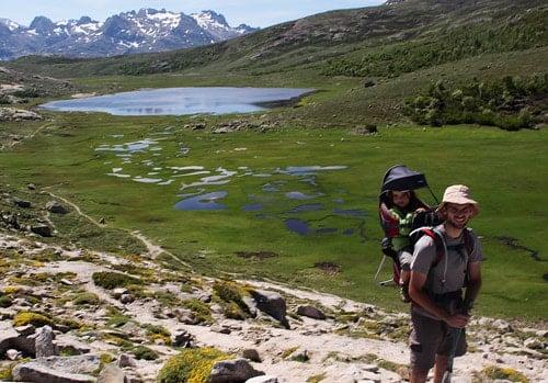 corse avec bébé randonnée au lac nino en famille