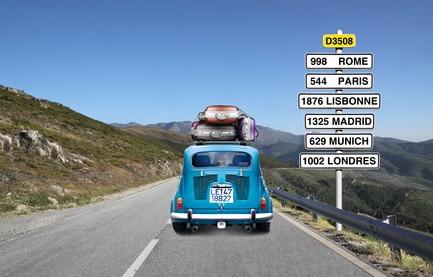 voyage avec enfants destination panneau