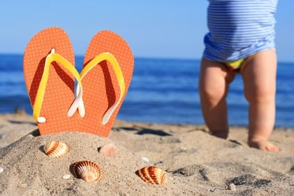 vacances avec bébé mer