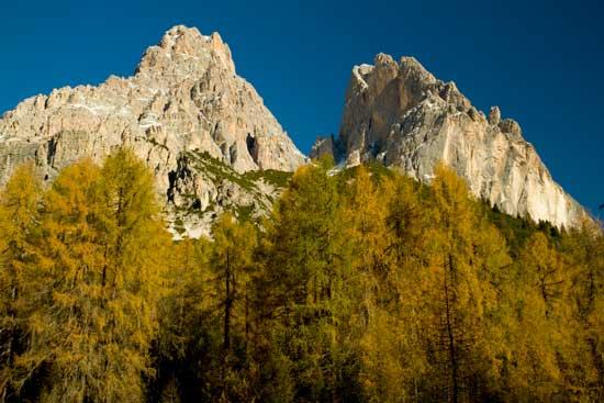 dolomites automne italie