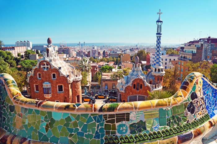 barcelone enfant parc Güell