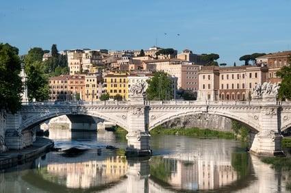 Quartier Trastevere à Rome en Italie avec enfants