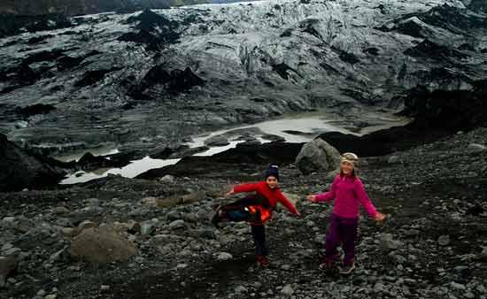 islande avec enfants glacier