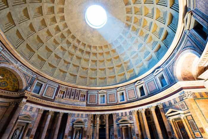panthéon-rome avec enfant et ado