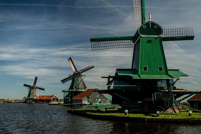 Zaanse-Schans-moulin-hollande