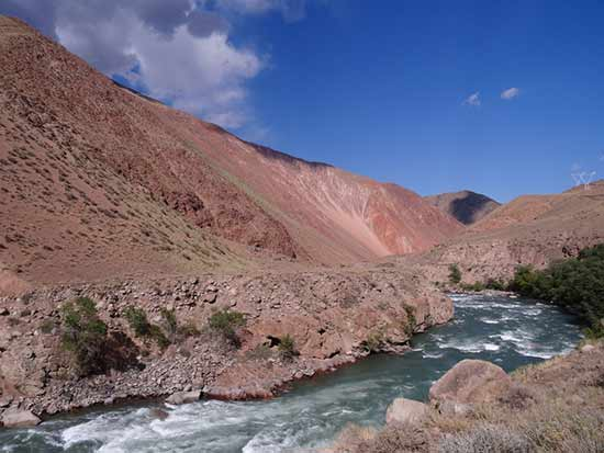 Kirghizistan-paysage-rivière