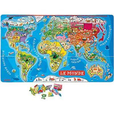 mappemonde-enfant puzzle-magnétique