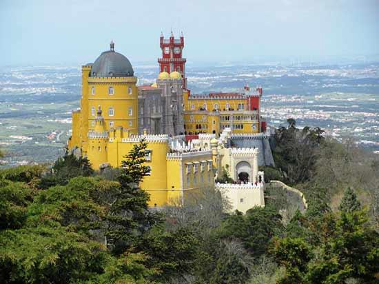 palais-de-pena-sintra- au portugal