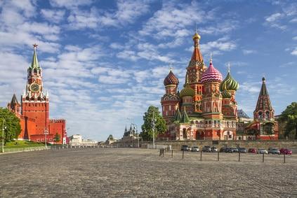 russie moscou grande place rouge du kremlin