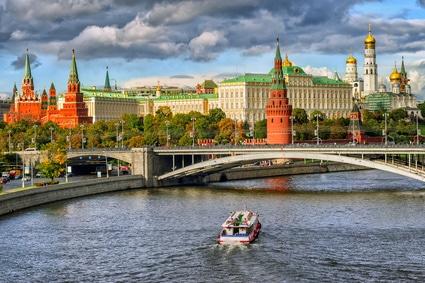 moscou russie kremlin visite en bateau
