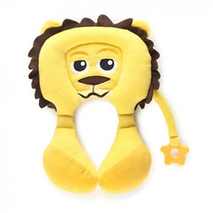 coussin-de-voyage-doudou-cale-tete-pili en forme de-lion