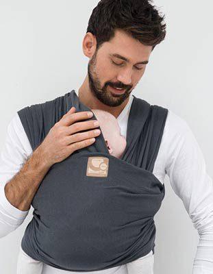 écharpe de portage bébé babylonia bio élastique