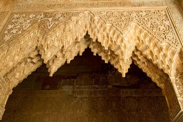 détail-architecture-maure-Alhambra-Grenade-Andalousie-Espagne
