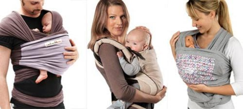 écharpe de portage et porte-bébé