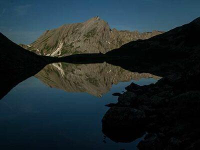 reflet-lac-jovet-mont-blanc-randonnée-famille